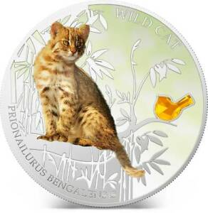 Fiji 2013 Wild Cat III Prionailurus Bengalensis Dogs /& Cats 1 Oz Silver Coin