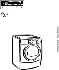 Kenmore Elite HE3 Electric Dryer Manual Use/Care Guide 8519319A        FREE SHIP