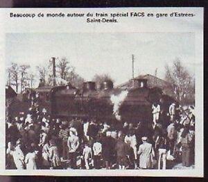1976 -- TRAIN SPECIAL EN GARE DE ESTREES SAINT DENIS T394 - France - 1976 -- TRAIN SPECIAL EN GARE DE ESTREES SAINT DENIS T394 il ne s'agit pas d'une carte postale , mais d'un beau document paru dans la rare VIE DU RAIL EN 1976 le document GARANTI D'EPOQUE est en tres bon état et présenté sur carton d'encadreme - France