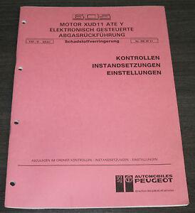 Werkstatthandbuch-Peugeot-605-Motor-XUD11-ATE-Y-elektronische-Abgasrueckfuehrung