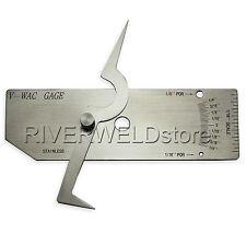 V WAC Single Weld Gage Inch Inspection Gauge Stainless Steel Undercut Silver