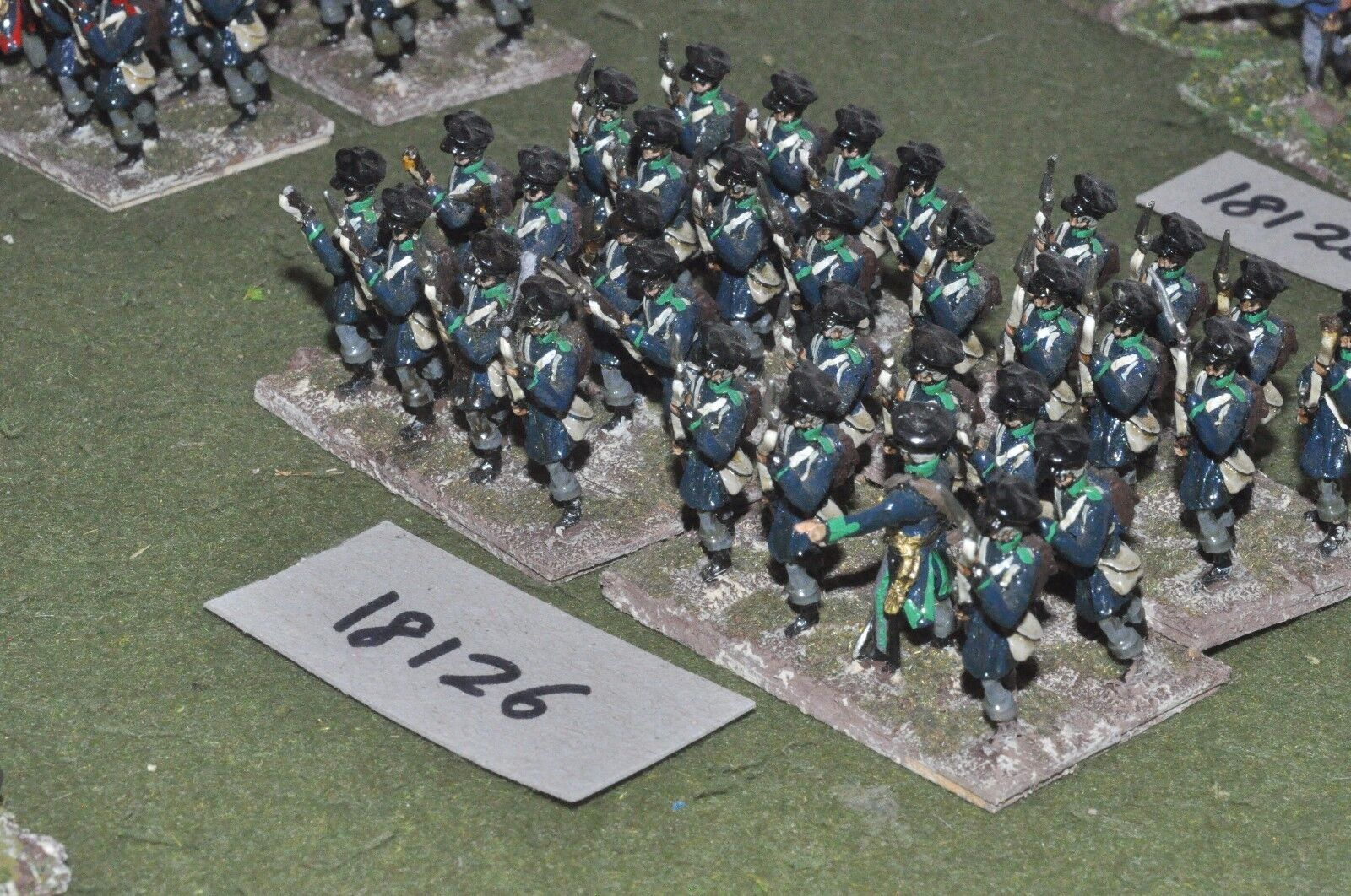 25mm napoleonic   prussian - infantry 32 figs - inf (18126)