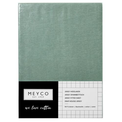 Meyco Jersey Spannbetttuch Spannbettlaken 70x140 150 cm Steingrün