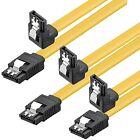 SATA 6 GB s Anschlusskabel mit Metallclip Gewinkelt 0 50m gelb Good Connections®
