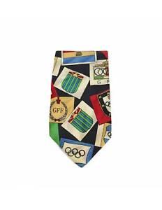 Gianfranco Ferre Krawatte Olympiade Seide Vintage Schwarz