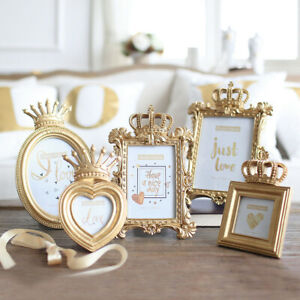 Luxury-Baroque-Style-Gold-Crown-Decor-Creative-Resin-Picture-Desktop-Frame