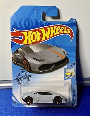 Hot Wheels 2019 Factory Fresh Series #245 Lamborghini Huracan Gray TRAP5 FYC12