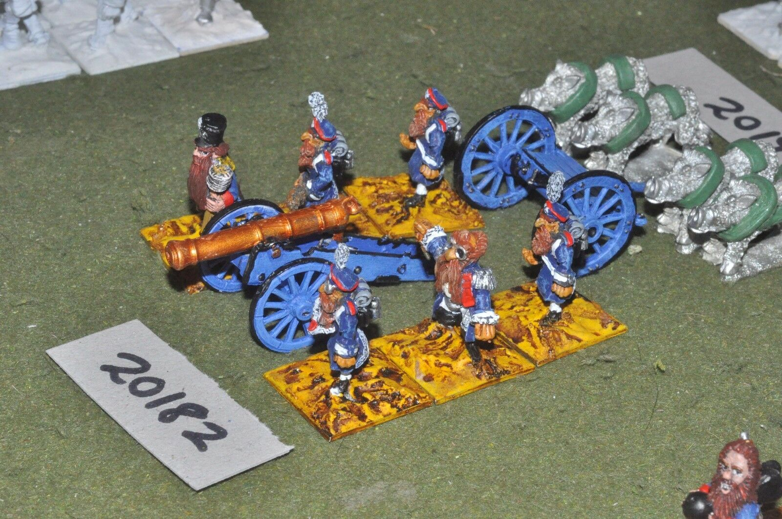 28mm flintloque fantasy dwarf Krautian Landwehr artillery (as photo){16}(20182)