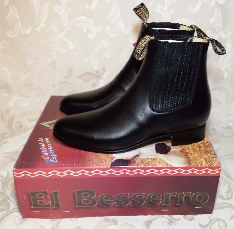 El Beserro Half Ankle mens Western Leather avvio Botin  Charro Bota DE Hombre  negozio d'offerta