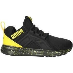 basket puma noir et jaune