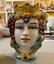 miniatura 5 - Teste di Moro Siciliane in ceramica di Caltagirone testa uomo o donna H13 vaso