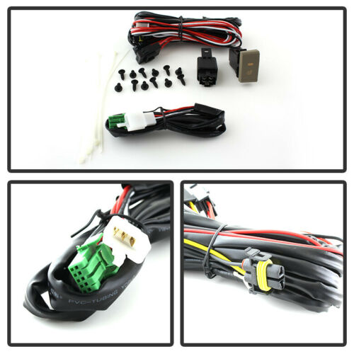 For 2014-2016 Elantra Bumper Fog Lights Lamps w//Switch Replacement Left+Right