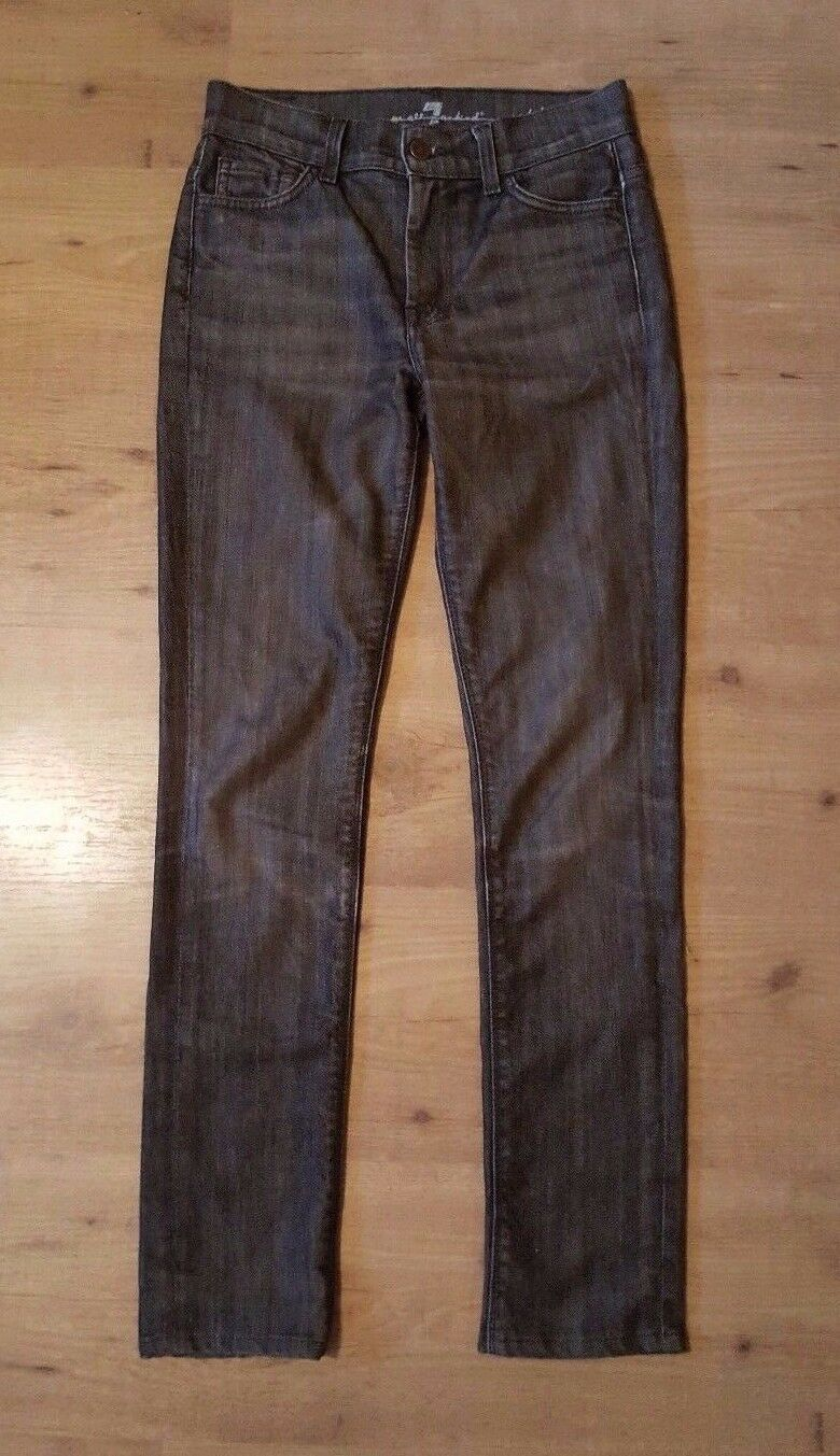 7 For All Mankind Sophie High Rise Skinny Ankle Grey Wash Jeans 25 X 29