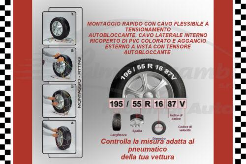 90 18819 CATENE AUTO NEVE RAPID 9mm 180-15 185-15 195//70-15 205//65-15 220//55-390
