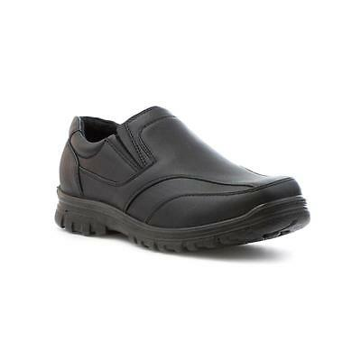 Beckett Boys Slip On School Shoe in Black - Sizes 8,9,10,11,12,13,1,2,3,4,5,6