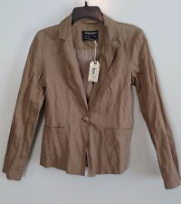 NWT All Saints Spitalfields Camel Ava Picadilly Jacket Size 6 MSRP $296