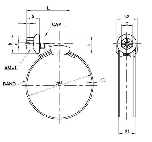 9 mm Schlauchschellen 5 Stück Schlauchschelle Edelstahl V2A Ø 23-35 mm Bandbr