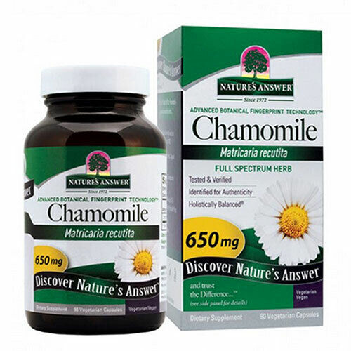 Chamomile Flower 90 Caps  by Nature's Answer