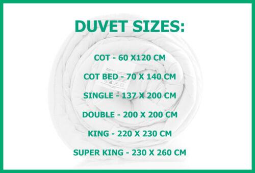 Ultra Light Cool Summer Duvet 2.5 4.5 7.5 9.0 Tog Single Double King Superking