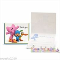 Pocoyo Thank You Notes (8) 1st Birthday Party Supplies Stationery Pato Elly