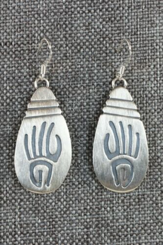 Details about  /Navajo Sterling Silver Earrings Charlie Yazzie