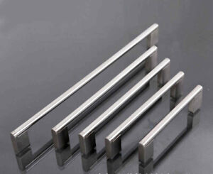 Details About Kitchen Cupboard Cabinet Bar Door Handle Brushed Stainless Steel Handles Pull Uk