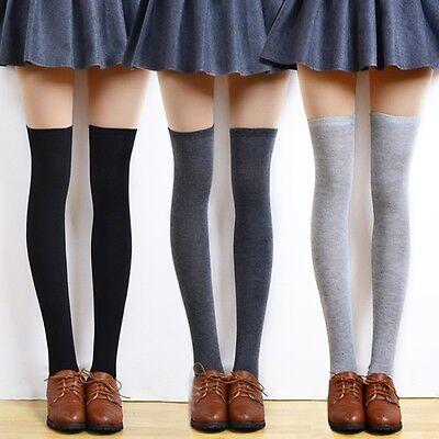 Girl Women Autumn Winter Thigh High OVER the KNEE Socks Cotton Stockings