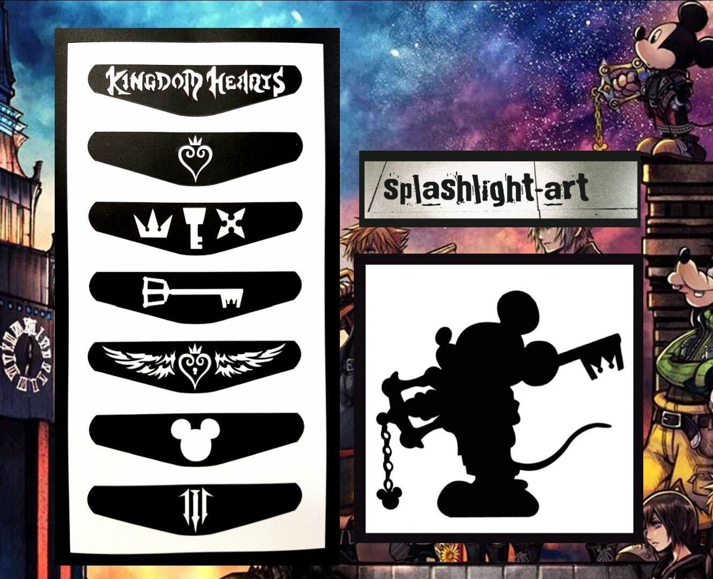 Kingdom Hearts PS4 Controller Light Bar 7x Vinyl Sticker Bonus Mickey Decal