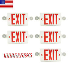 24568pack Led Exit Sign Emergency Lighthi Output Compact Combo Red Fire Ul