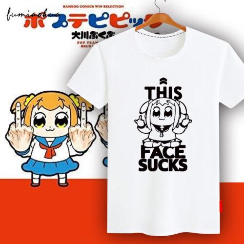 Hot POP TEAM EPIC Pipimi Popuko T-Shirt Short Sleeve Causal Top S-XXL Unisex