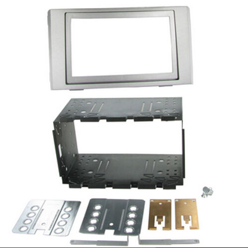 CT23IV02 IVECO DAILY 2007 to 2014 SILVER DOUBLE DIN FASCIA ADAPTER FITTING KIT