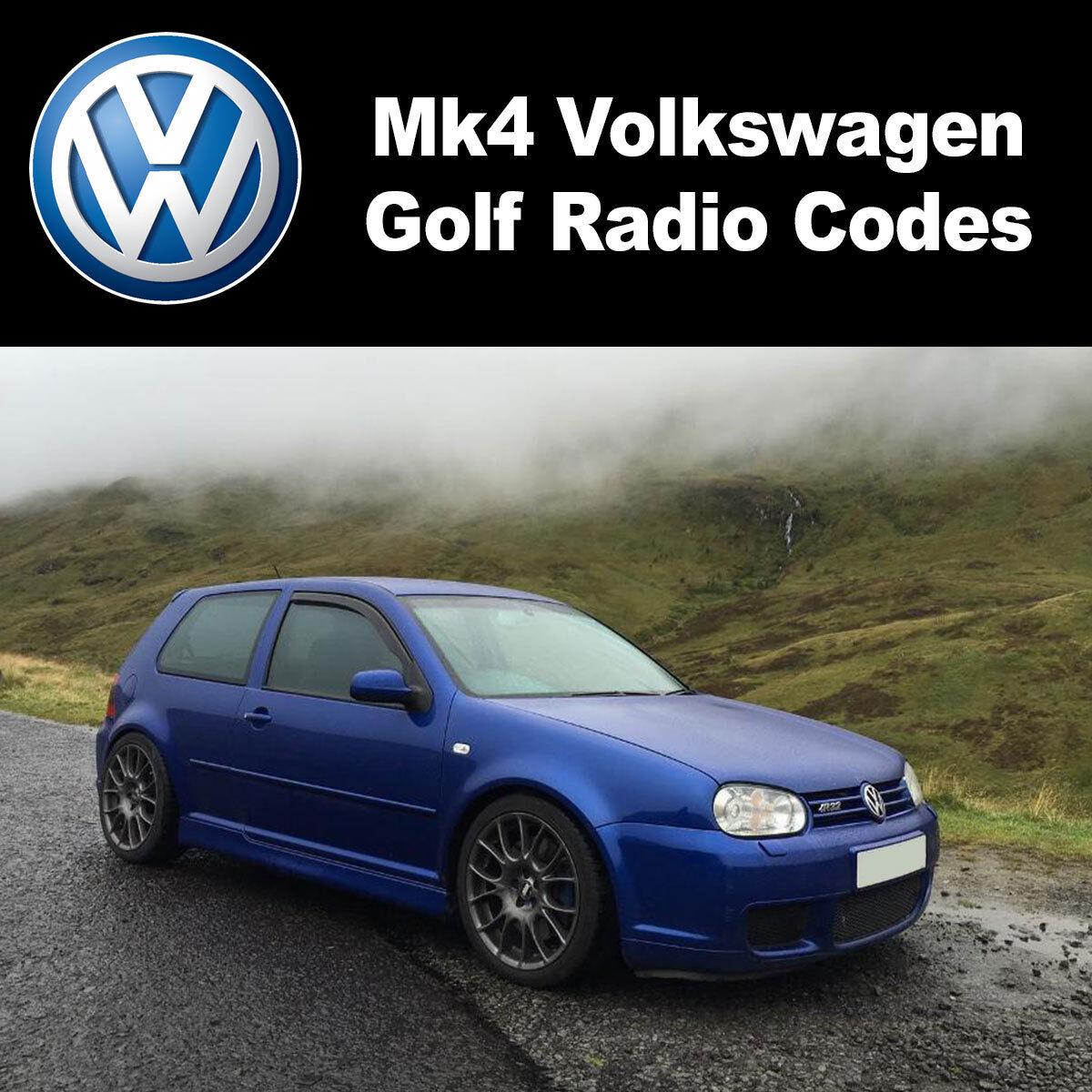 Volkswagen VW Polo Radio Code Unlock Stereo Codes RCD 310 300 200 210 215