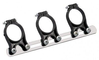 3 LNB Multi Feed Holder - METAL Design - Adjustable - 40mm Triple Way Bracket