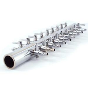18-fach-Luftverteiler-Metall-Aquarium-Luft-Verteiler-Luftschlauch-Luftregler