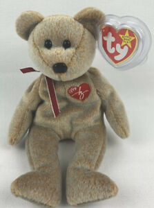Ty Beanie Baby 1999 RARE Signature Bear Tag Error Mint Condition Hologram Tag