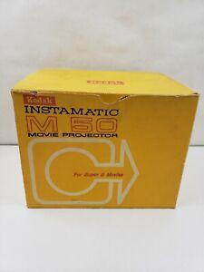 Kodak Instamatic M50 Super 8 Movie Projector Not Tested In Original Box