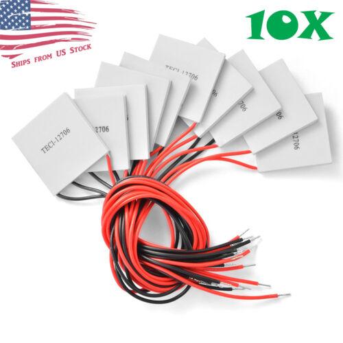 10PCS TEC1-12706 12V 60W Thermoelectric Cooler TEC Peltier Plate Module US