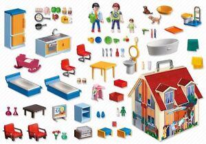 Jeu de porte-documents en forme de maison de poupée Playmobil 5167 3 personnages