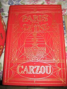 Paris-Sur-Seine-Breton-Hugo-Rilke-Mouloudji-illustre-par-CARZOU-Superbe-1986