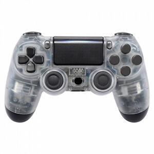 PS4-Controller-Cover-Case-Gehaeuse-Front-Transparent-Slim-Pro-JDM-040-LED-MODS