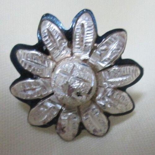 Santa Clara Silver Concho or 3 pcs Buckle Set BLUED  – Each aka Daisy #250