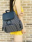 Michael Kors Abbey Leather Backpack - Navy/Multi