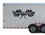Custom Name Racing Checkered Flag Decal  Motocross Kart Race Car Trailer RAC22