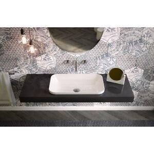 Lavandino lavabo bagno rettangolare incasso bordo fino gi evolution ceramica ebay - Lavandino incasso bagno ...