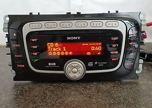2008 ford focus mk2 mk4 mondeo sony 6 disc dab mp3 radio. Black Bedroom Furniture Sets. Home Design Ideas