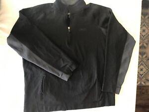Details about REEBOK RBK Play Dry Mens 2XL 14 Zip Pullover Shirt Jacket BlackGray TS9