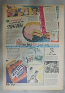 State License Plates Premium from 1953 11 x 15 inches Wheaties Cereal Ad