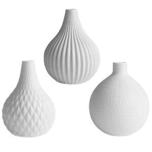3X Keramikvase Blumentöpfe Modische exquisite Bastelvase Blumenvasen Haus Dekro