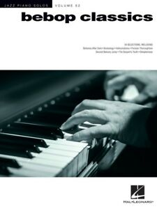 Details about Jazz Piano Solos Vol 52 - Bebop Classics Piano Book *NEW*  Music