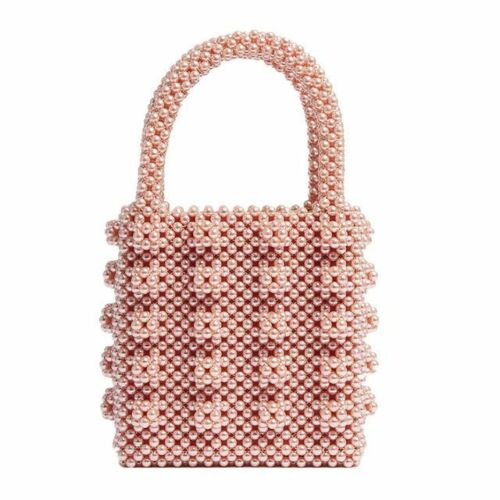 Pearls Bag Beaded Box Women/'s Party Vintage Handbags Totes Luxury Small Bags New